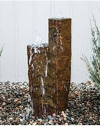 "AquaBella Twin Basalt Tower 48"" And 36"" Fountain Kit"