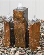 AquaBella Trinity Split Basalt Fountain Kit