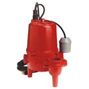 Red Lion Heavy-Duty Cast Iron Sewage Pump - 1/2 HP