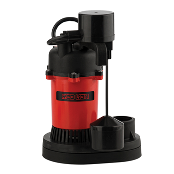 Red Lion Thermoplastic Sump Pump 1/2 HP Vertical Switch