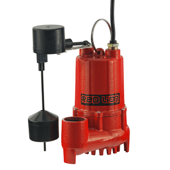 Red Lion Cast Iron Sump 1/3 HP Vertical Switch