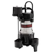 Red Lion Submersible Stainless Steel Sump Pump 1/2 HP Vertical Switch