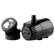 Aquanique 419 GPH Fountain Pump with Auto Shut Off and LED Light